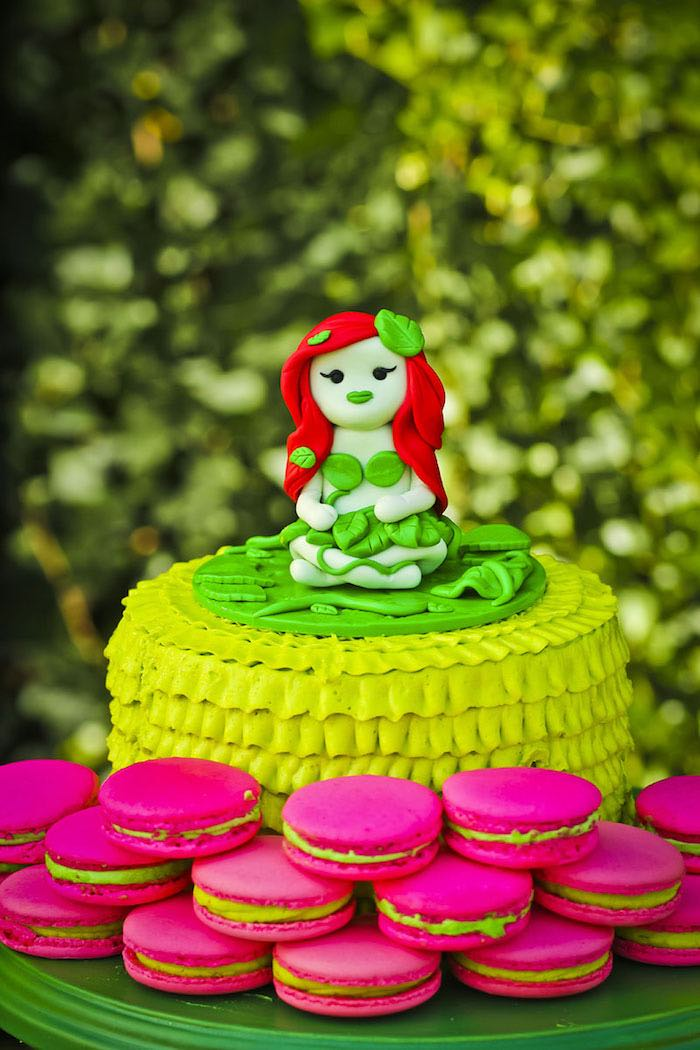 Cake from a Poison Ivy Birthday Party via Kara's Party Ideas | KarasPartyIdeas.com (37)