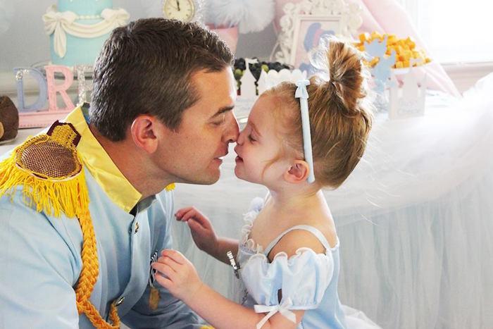 Cinderella & her Prince from a Princess Cinderella Birthday Party via Kara's Party Ideas | KarasPartyIdeas.com (23)