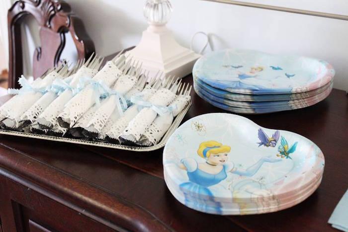 Cinderella Partyware from a Princess Cinderella Birthday Party via Kara's Party Ideas | KarasPartyIdeas.com (20)