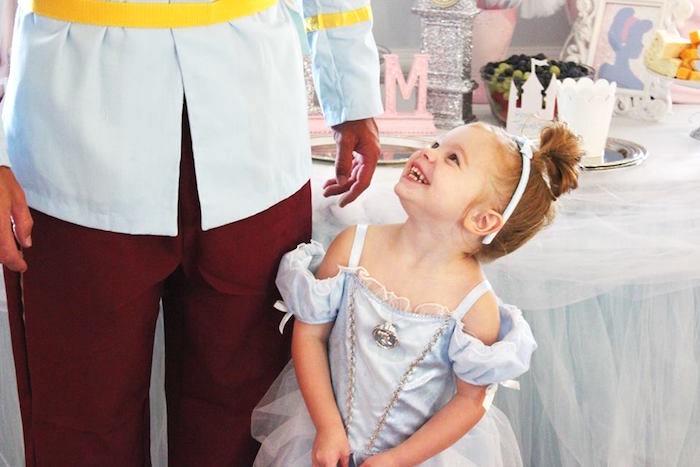 Cinderella with her Prince Charming from a Princess Cinderella Birthday Party via Kara's Party Ideas | KarasPartyIdeas.com (7)