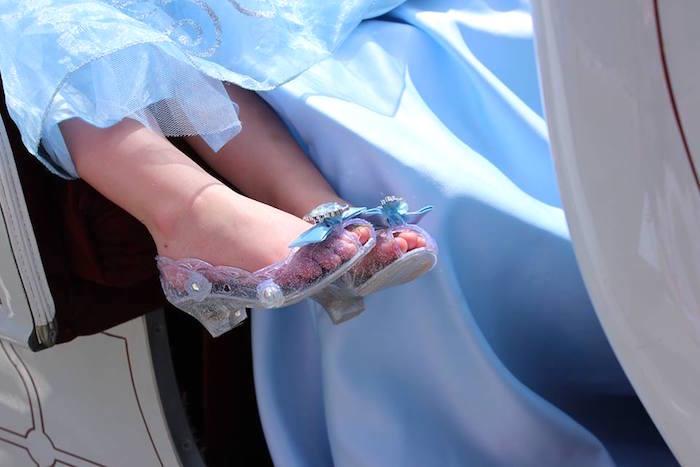 Magic slippers from a Princess Cinderella Birthday Party via Kara's Party Ideas | KarasPartyIdeas.com (6)