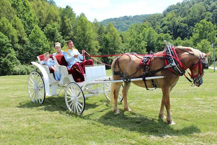 Royal carriage ride from a Princess Cinderella Birthday Party via Kara's Party Ideas | KarasPartyIdeas.com (33)