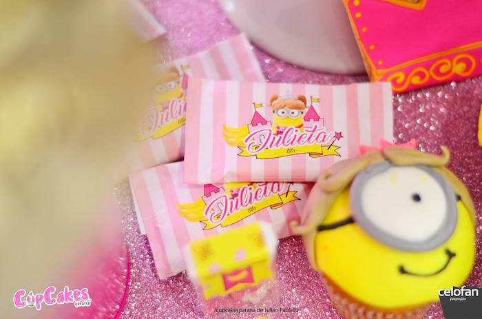 Chocolate bars from a Princess Minions Themed Birthday Party via Kara's Party Ideas KarasPartyIdeas.com (27)