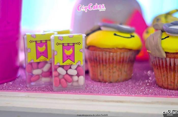 Tic Tacs + cupcake favors from a Princess Minions Themed Birthday Party via Kara's Party Ideas KarasPartyIdeas.com (26)