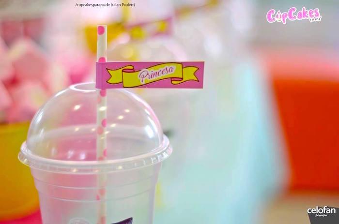 Drink cup from a Princess Minions Themed Birthday Party via Kara's Party Ideas KarasPartyIdeas.com (16)