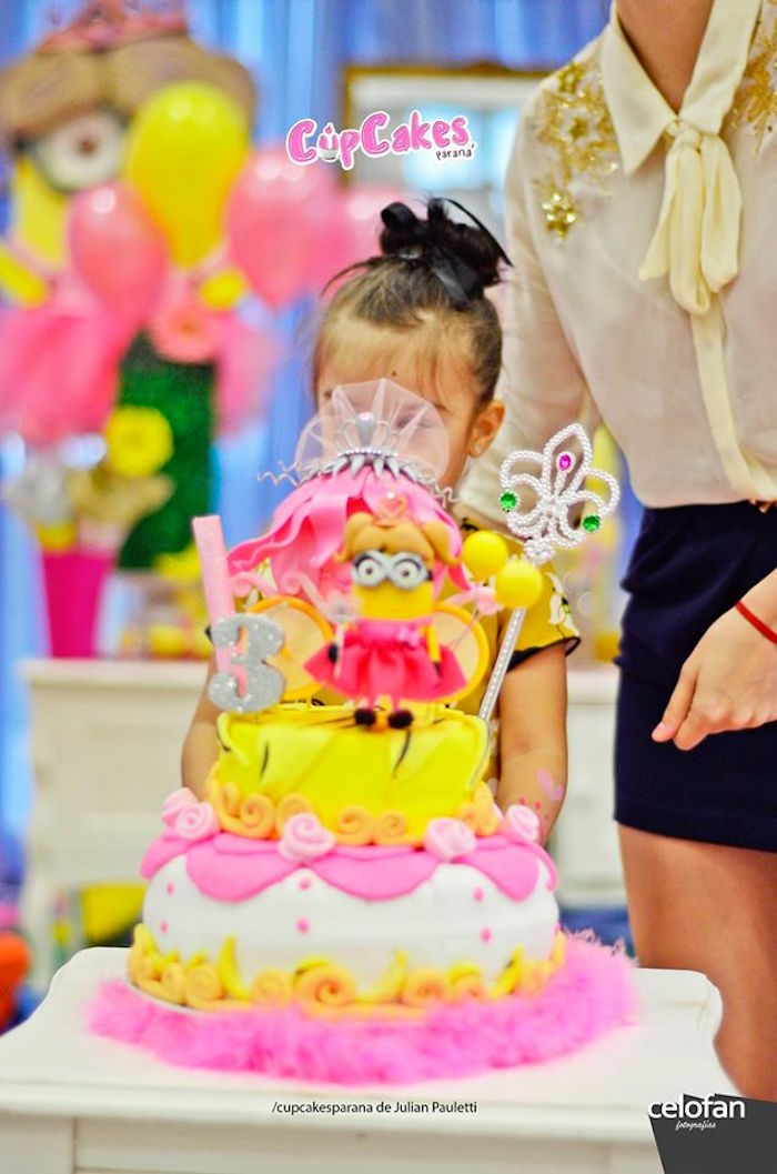Karas Party Ideas Princess Minions Themed Birthday Party Karas