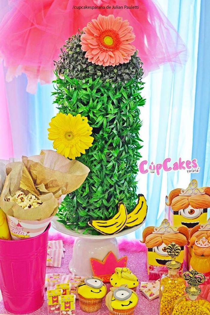 Darling party details from a Princess Minions Themed Birthday Party via Kara's Party Ideas KarasPartyIdeas.com (6)