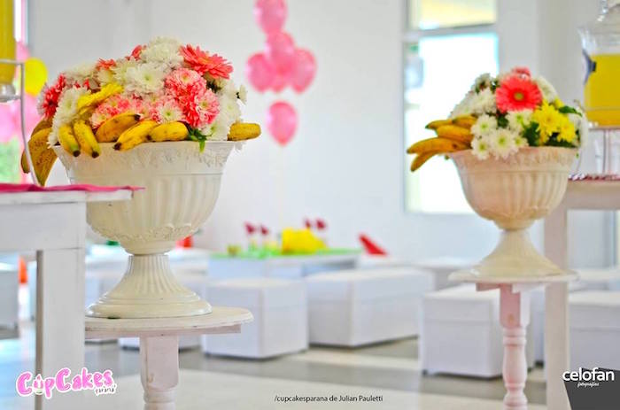 Floral arrangements from a Princess Minions Themed Birthday Party via Kara's Party Ideas KarasPartyIdeas.com (5)