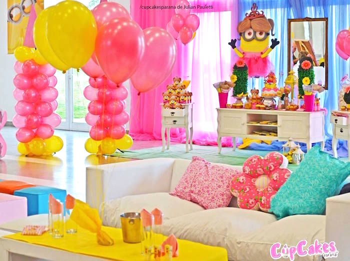 Princess Minions Themed Birthday Party Via Karas Ideas KarasPartyIdeas 4