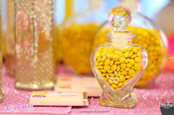 Candy jar from a Princess Minions Themed Birthday Party via Kara's Party Ideas KarasPartyIdeas.com (39)