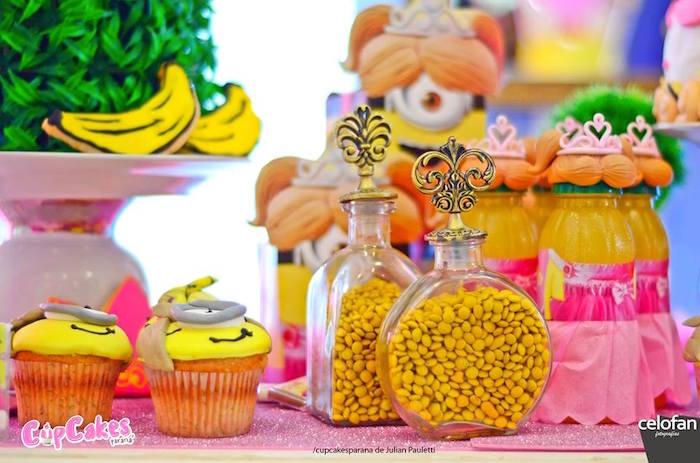 Favors + sweets from a Princess Minions Themed Birthday Party via Kara's Party Ideas KarasPartyIdeas.com (37)