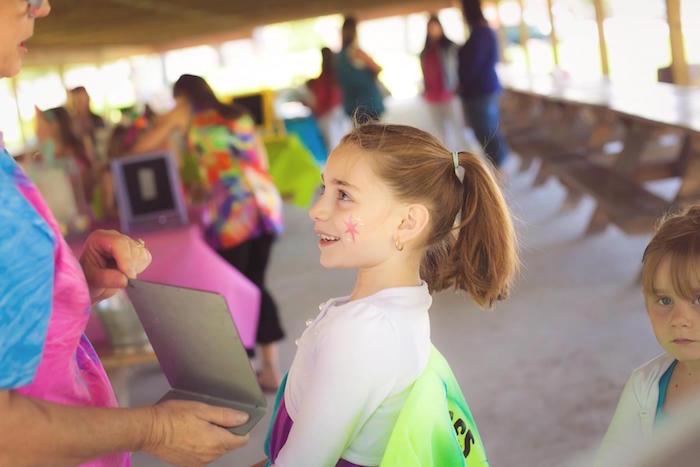 Little girl from a Rainbow Unicorn Themed Birthday Party via Kara's Party Ideas | KarasPartyIdeas.com (17)