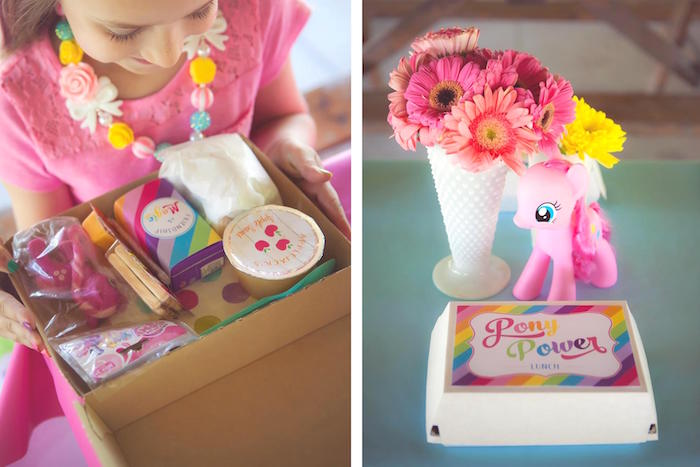 Pony Power Lunch from a Rainbow Unicorn Themed Birthday Party via Kara's Party Ideas | KarasPartyIdeas.com (16)