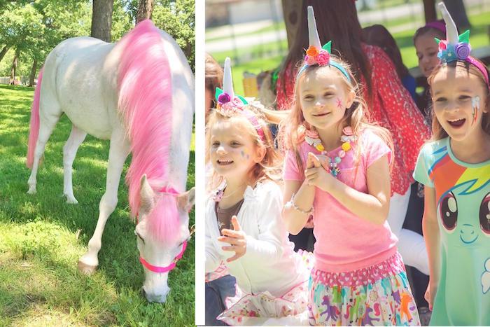 Unicorn love from a Rainbow Unicorn Themed Birthday Party via Kara's Party Ideas | KarasPartyIdeas.com (10)