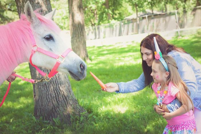Unicorn from a Rainbow Unicorn Themed Birthday Party via Kara's Party Ideas | KarasPartyIdeas.com (9)