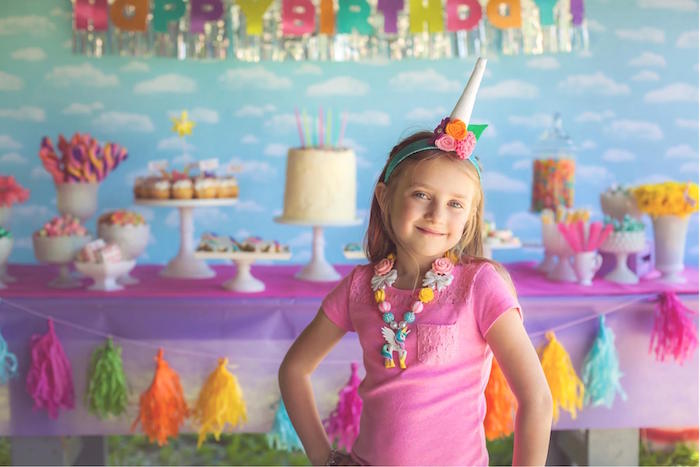 Kara S Party Ideas Rainbow Unicorn Themed Birthday Party