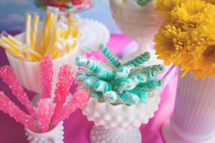 Candy from a Rainbow Unicorn Themed Birthday Party via Kara's Party Ideas | KarasPartyIdeas.com (5)