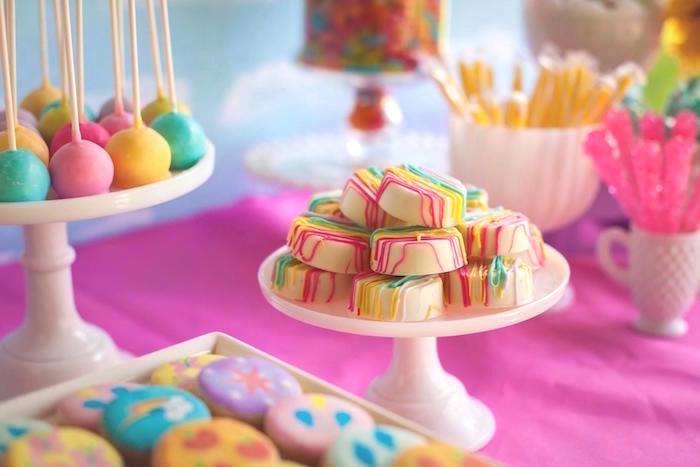 Sweets from a Rainbow Unicorn Themed Birthday Party via Kara's Party Ideas | KarasPartyIdeas.com (24)