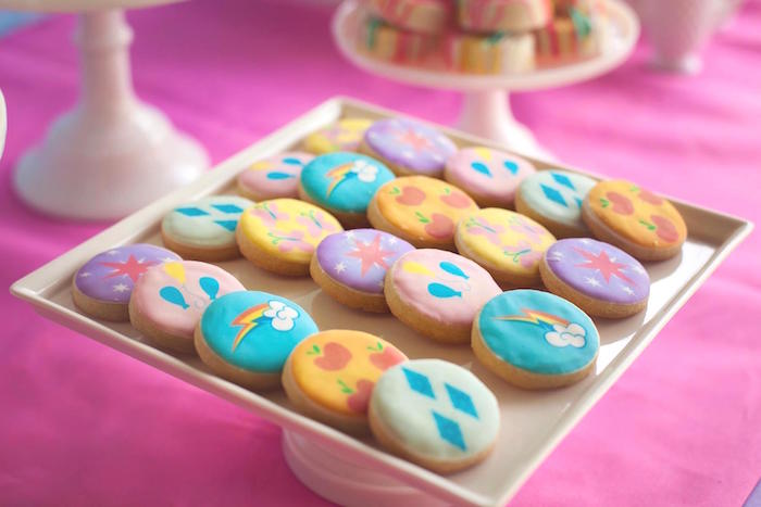 Cookies from a Rainbow Unicorn Themed Birthday Party via Kara's Party Ideas | KarasPartyIdeas.com (23)