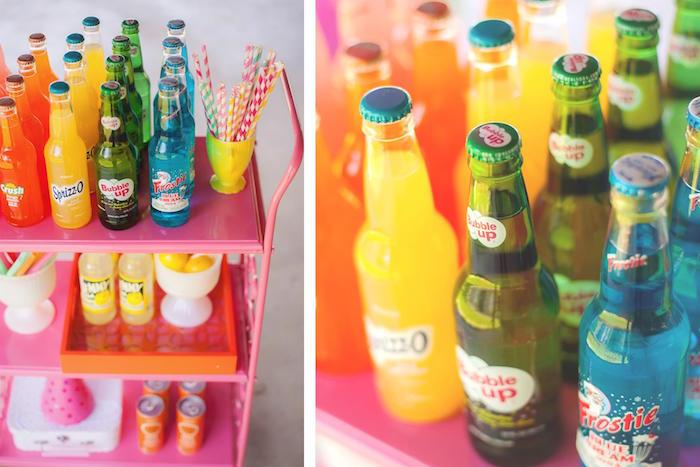 Beverages from a Rainbow Unicorn Themed Birthday Party via Kara's Party Ideas | KarasPartyIdeas.com (20)