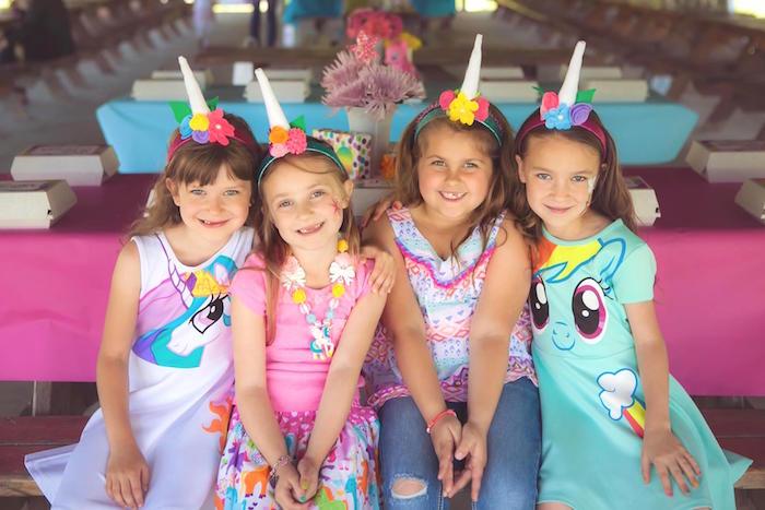 Little unicorns from a Rainbow Unicorn Themed Birthday Party via Kara's Party Ideas | KarasPartyIdeas.com (19)