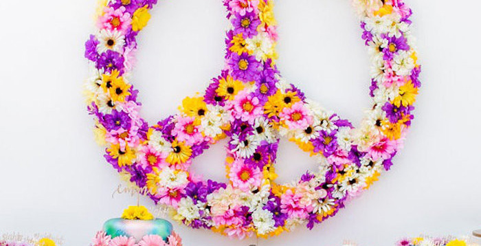 Rainbowpalooza Tie Dye 1970's Inspired Birthday Party via Kara's Party Ideas KarasPartyIdeas.com (1)