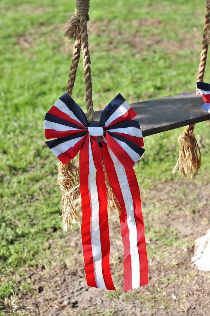 Swing from a Red + White & Blue Outdoor Summer 4th of July Celebration via Kara's Party Ideas - KarasPartyIdeas.com (71)
