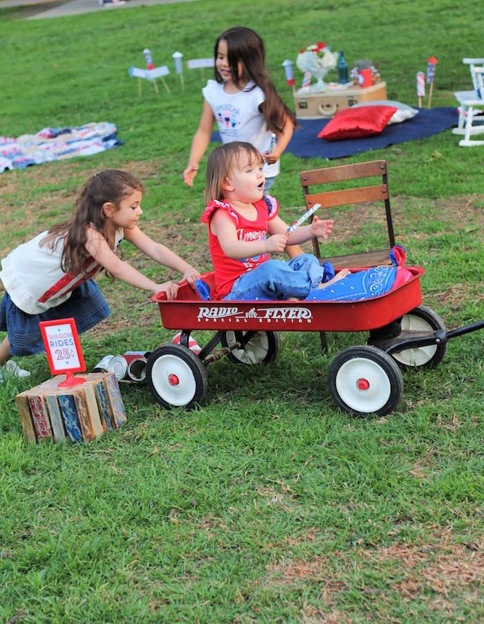 Wagon rides from a Red + White & Blue Outdoor Summer 4th of July Celebration via Kara's Party Ideas - KarasPartyIdeas.com (65)