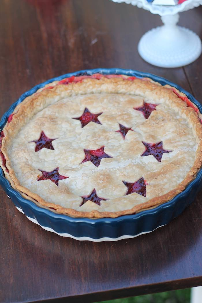 Star Spangled Pie from a Red + White & Blue Outdoor Summer 4th of July Celebration via Kara's Party Ideas - KarasPartyIdeas.com (60)