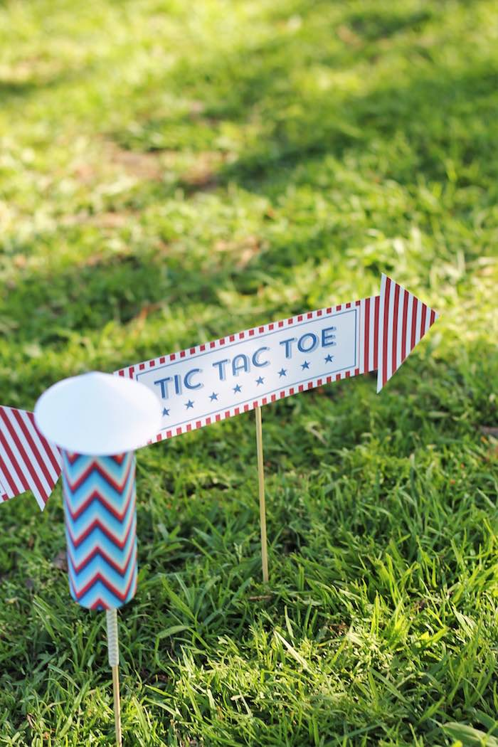 Firework party sign from a Red + White & Blue Outdoor Summer 4th of July Celebration via Kara's Party Ideas - KarasPartyIdeas.com (79)