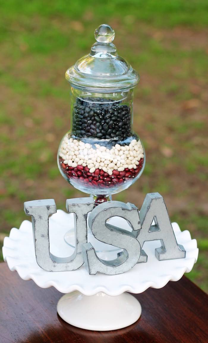 Decor from a Red + White & Blue Outdoor Summer 4th of July Celebration via Kara's Party Ideas - KarasPartyIdeas.com (47)