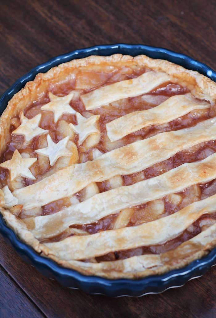 Patriotic American Flag Pie from a Red + White & Blue Outdoor Summer 4th of July Celebration via Kara's Party Ideas - KarasPartyIdeas.com (46)