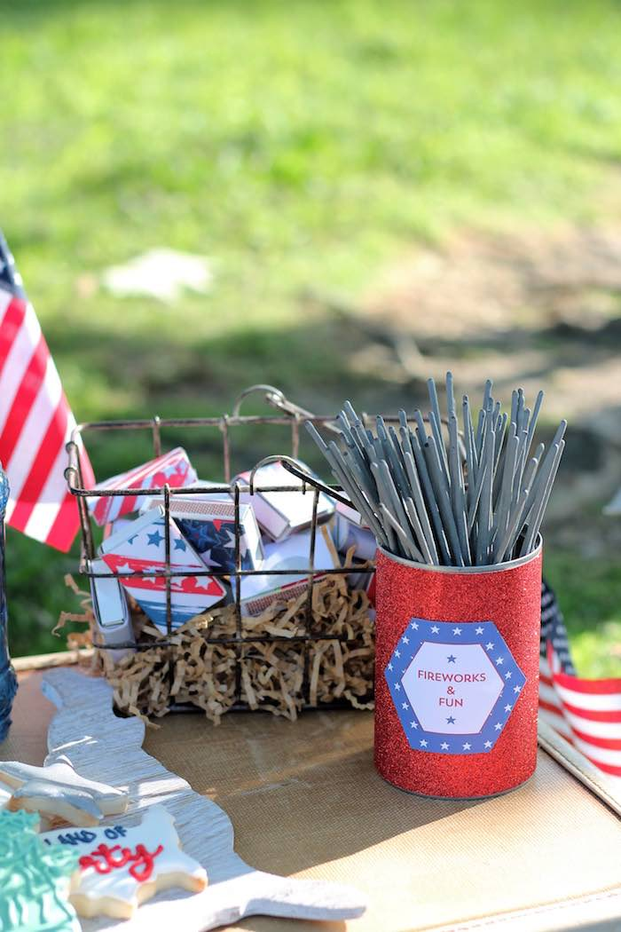 Firework fun from a Red + White & Blue Outdoor Summer 4th of July Celebration via Kara's Party Ideas - KarasPartyIdeas.com (77)