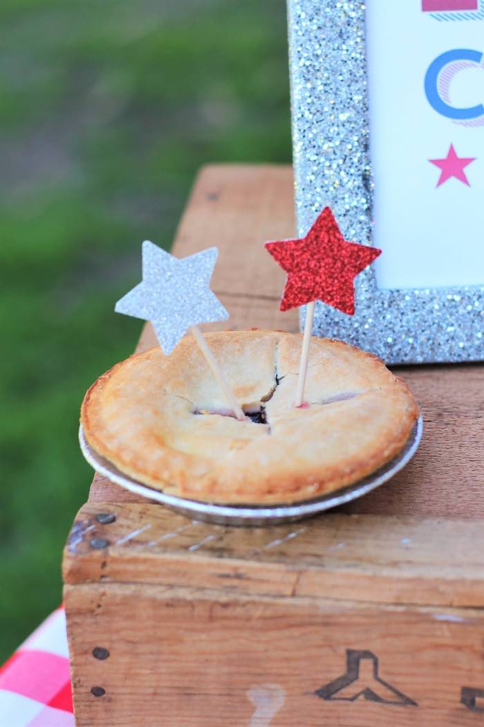 Mini pie from a Red + White & Blue Outdoor Summer 4th of July Celebration via Kara's Party Ideas - KarasPartyIdeas.com (14)