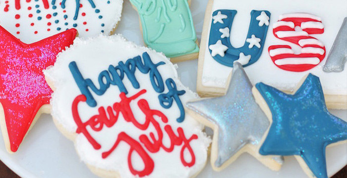 Red + White & Blue Outdoor Summer 4th of July Celebration via Kara's Party Ideas - KarasPartyIdeas.com (1)