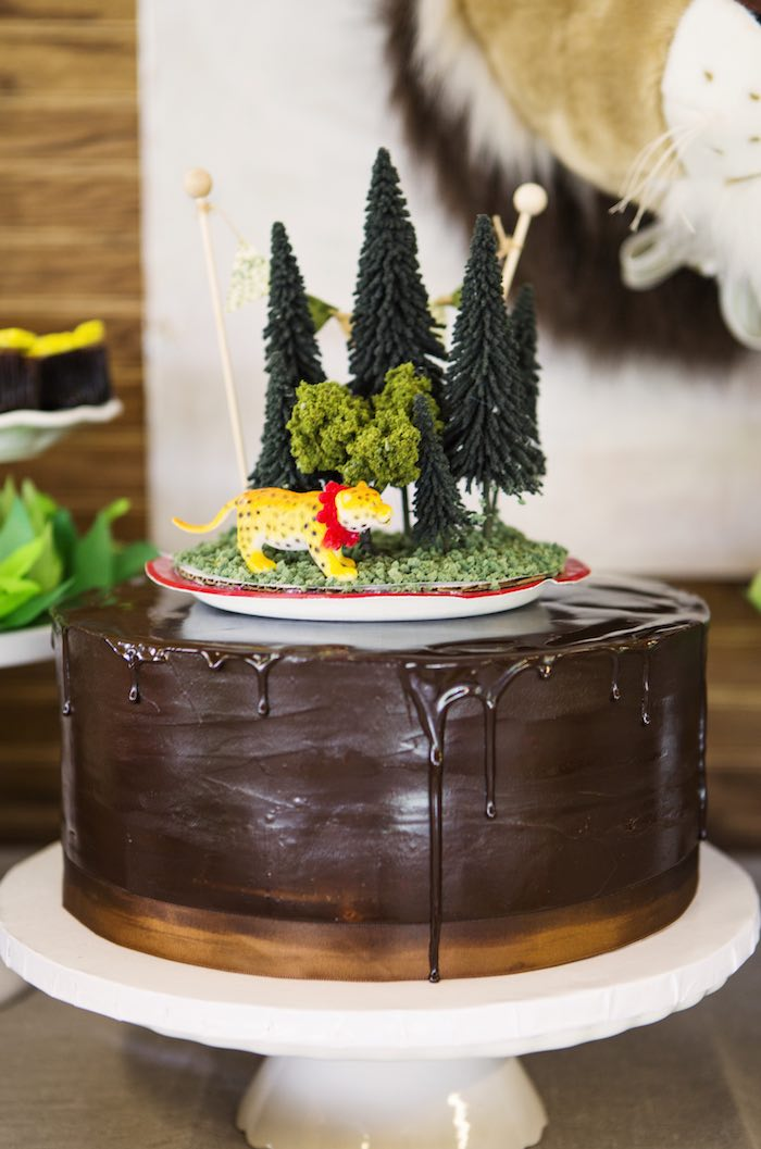 Chocolate cake from a African Inspired Safari Themed Birthday Party via Kara's Party Ideas | KarasPartyIdeas.com (15)