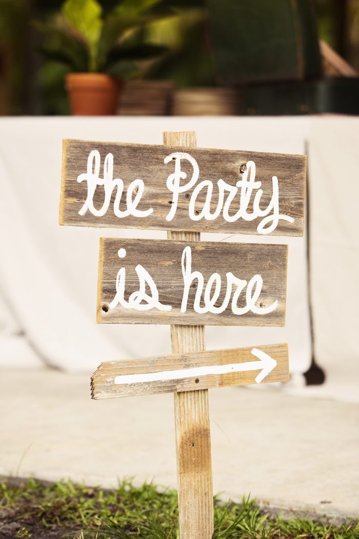 Wooden sign from a African Inspired Safari Themed Birthday Party via Kara's Party Ideas | KarasPartyIdeas.com (33)