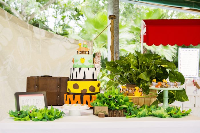 Sweet table from a African Inspired Safari Themed Birthday Party via Kara's Party Ideas | KarasPartyIdeas.com (10)
