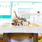 Kid table from a Safari Themed Birthday Party via Kara's Party Ideas | KarasPartyIdeas.com (1)