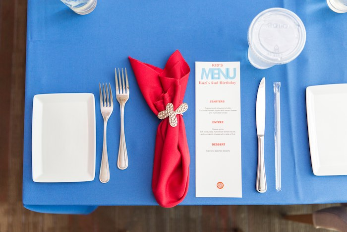 Place setting from a Sesame Street Birthday Party via Kara's Party Ideas | KarasPartyIdeas.com - The Place for All Things Party! (25)