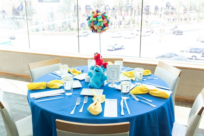 Guest table from a Sesame Street Birthday Party via Kara's Party Ideas | KarasPartyIdeas.com - The Place for All Things Party! (21)