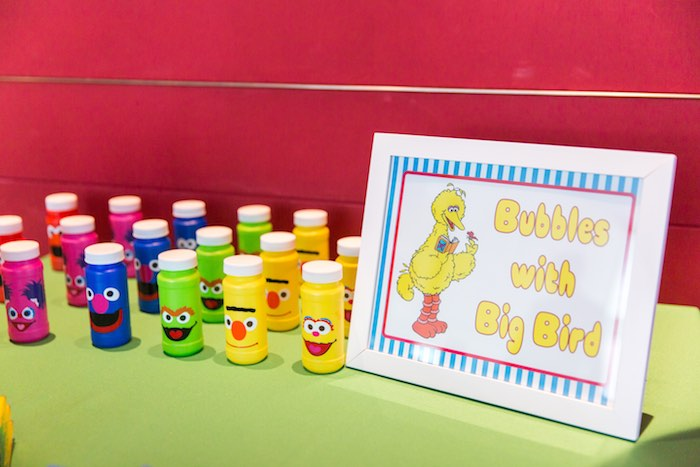 Bubble favors from a Sesame Street Birthday Party via Kara's Party Ideas | KarasPartyIdeas.com - The Place for All Things Party! (16)