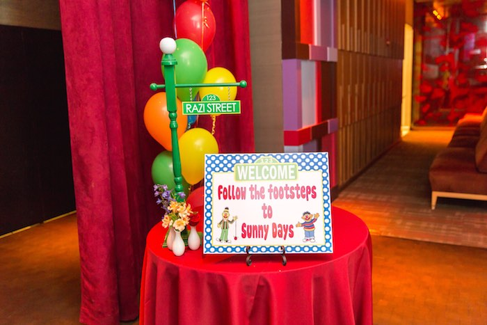 Welcome table from a Sesame Street Birthday Party via Kara's Party Ideas | KarasPartyIdeas.com - The Place for All Things Party! (10)