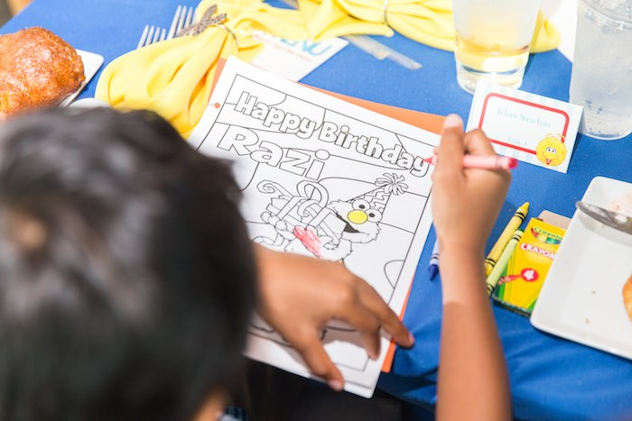 Coloring page from a Sesame Street Birthday Party via Kara's Party Ideas | KarasPartyIdeas.com - The Place for All Things Party! (7)
