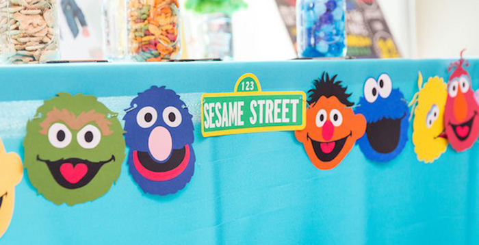 Table front from a Sesame Street Birthday Party via Kara's Party Ideas | KarasPartyIdeas.com - The Place for All Things Party! (3)