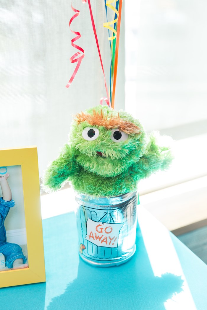 Oscar the Grouch decoration from a Sesame Street Birthday Party via Kara's Party Ideas | KarasPartyIdeas.com - The Place for All Things Party! (41)