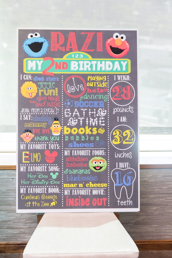 Kara S Party Ideas Birthday Party At Sesame Street Kara