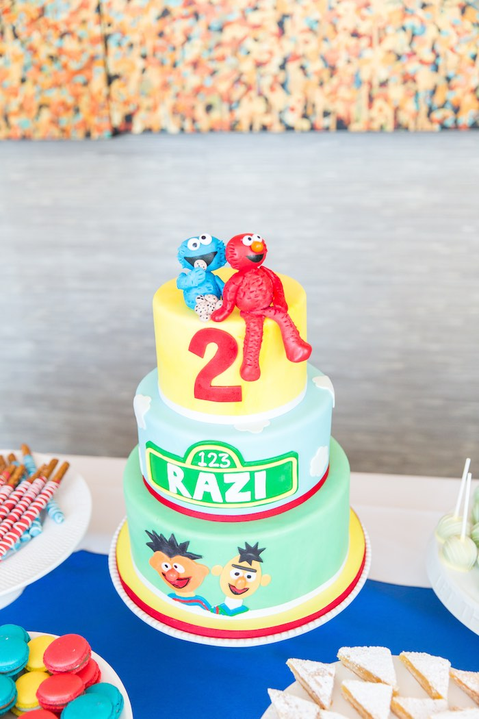 Cake from a Sesame Street Birthday Party via Kara's Party Ideas | KarasPartyIdeas.com - The Place for All Things Party! (37)