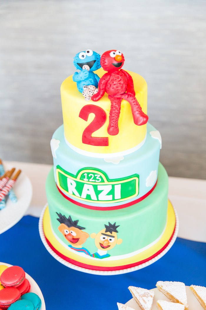 Cake from a Birthday Party at Sesame Street via Kara's Party Ideas | KarasPartyIdeas.com - The Place for All Things Party! (36)