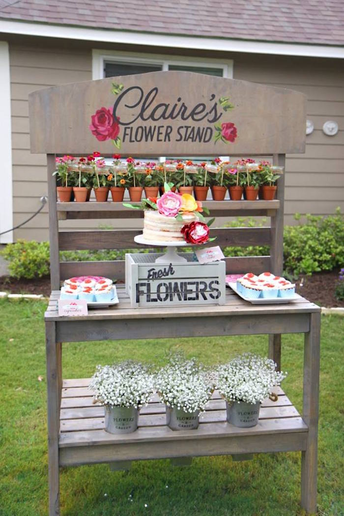 Kara S Party Ideas Shabby Chic Farmer S Market Birthday